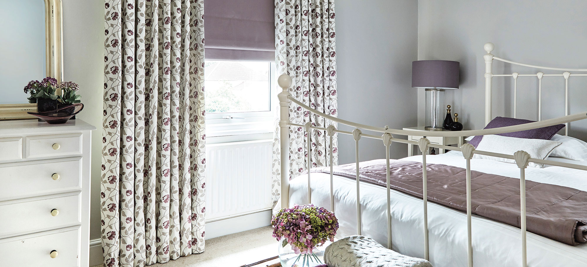 Salinas Heather Roman Curtains